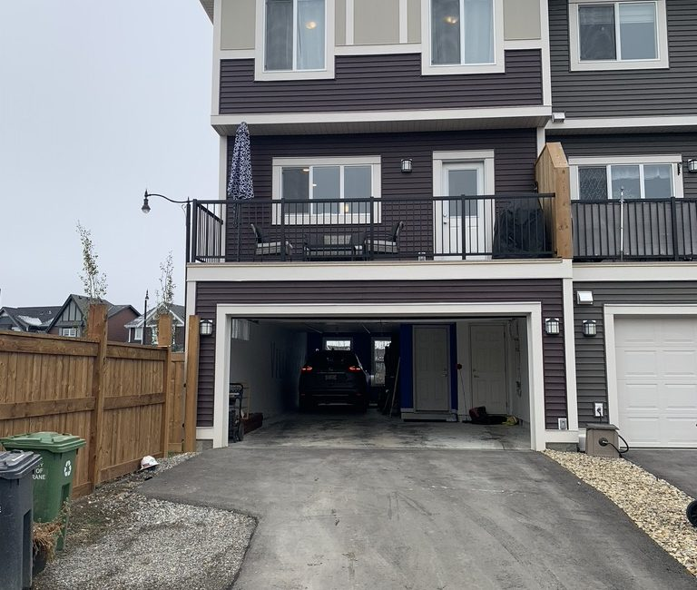 Rear of Home with Garage